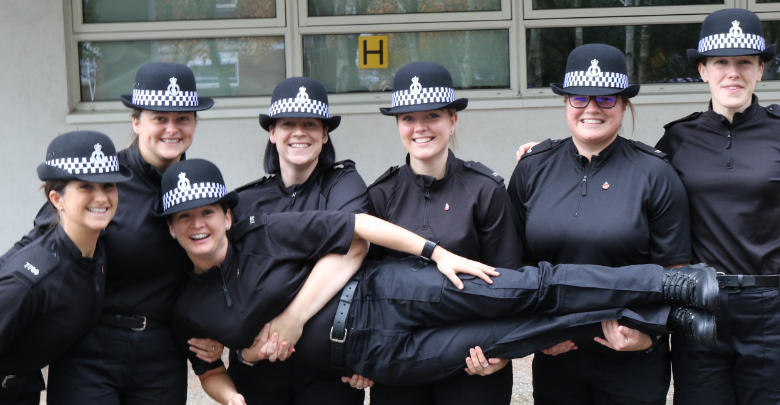 New Recruits posting for a photo while at training college