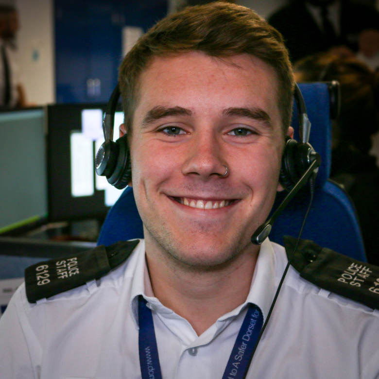 Dorset Call Handler smiling at the camera