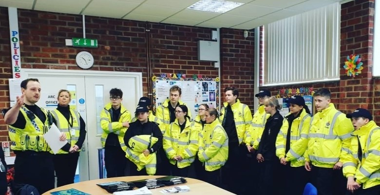 Dorset Police Cadet group meeting