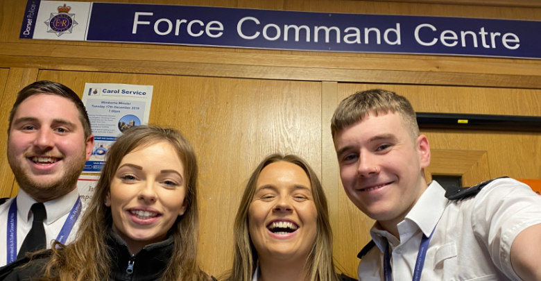 Force Command Centre Staff taking a selfie
