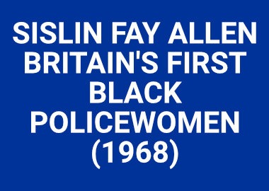 Britains First Black Policewoman
