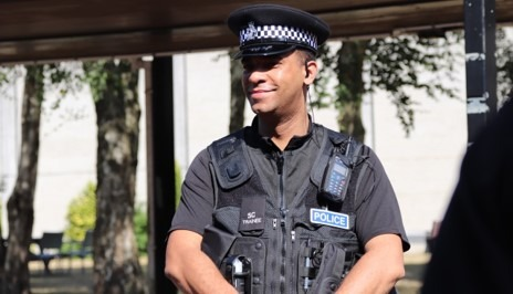Special Constable smiling for the camera